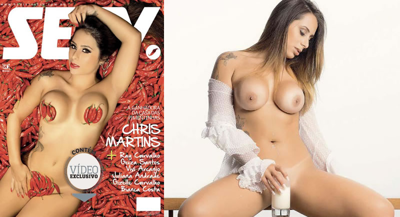 Revista Sexy Abril – Chris Martins (fotos digitais)